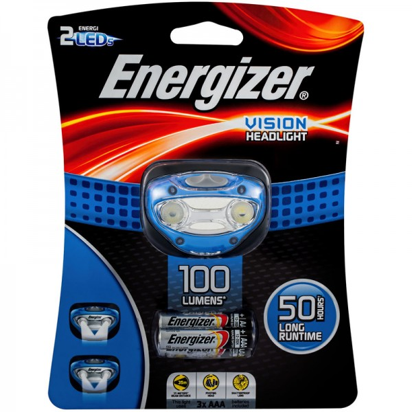 Energizer Vision Headlight 80 LUMENS WITH 3PCS AAA batteries