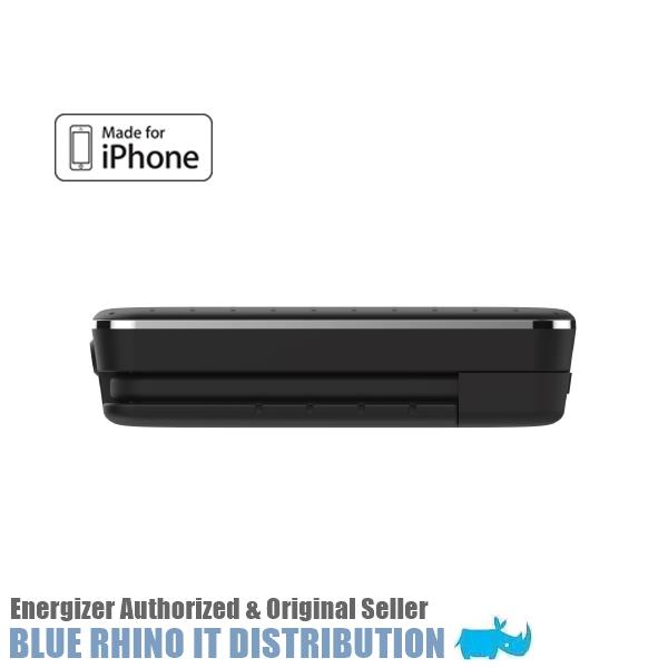Energizer XP10002A (10000MAH) Power Bank with Built-In Lightning Cable