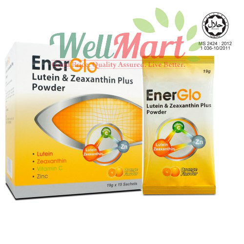Energlo Lutein & Zeaxanthin Plus Powder 15 sachets x2 [twin pack]