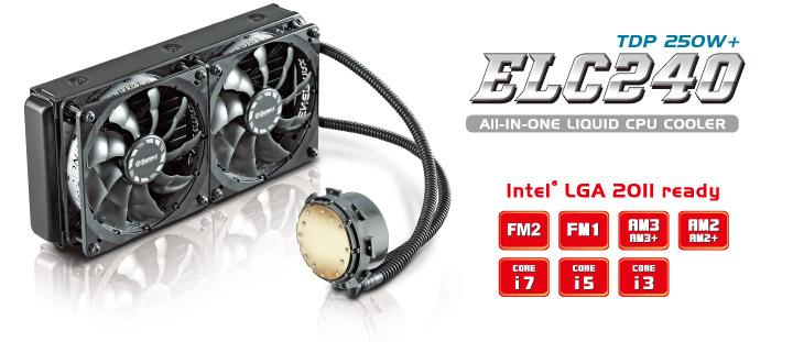 # ENERMAX ELC240 / Dual Radiator Water Cooling # Intel & AMD Ready!