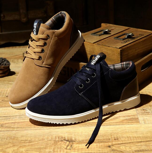England Style Mens Retro Fashion Suede Casual Breathable Sport Shoes