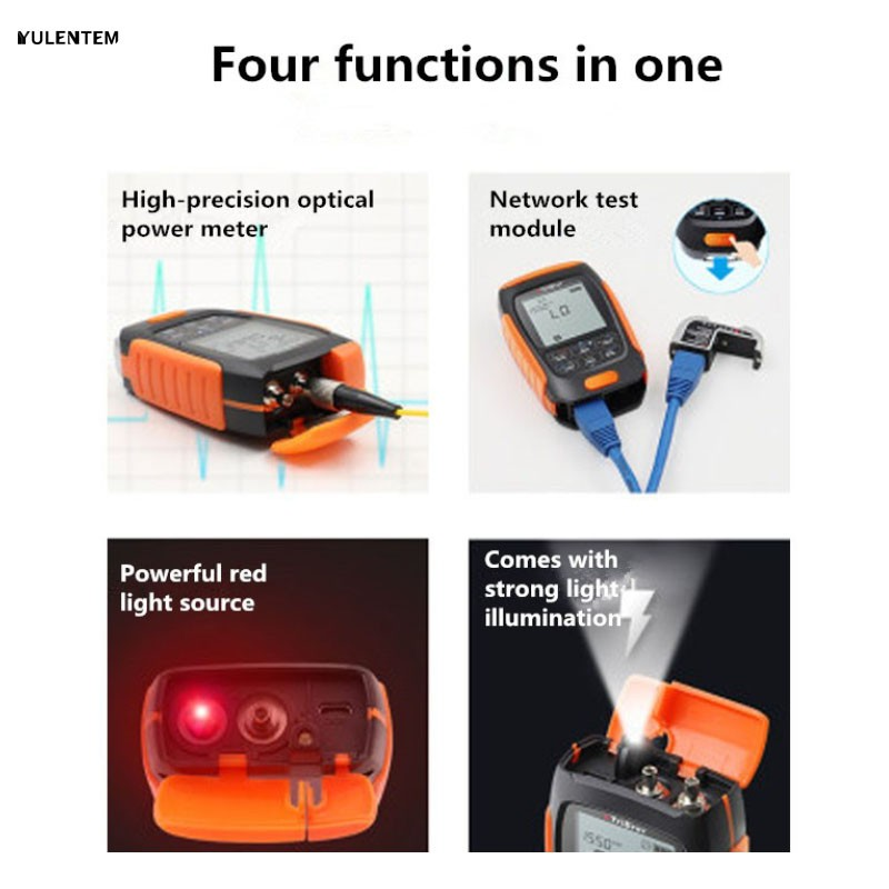 English Button 4 In 1 Lithium Battery Optical Power Me - [50T-1MW 5KM]