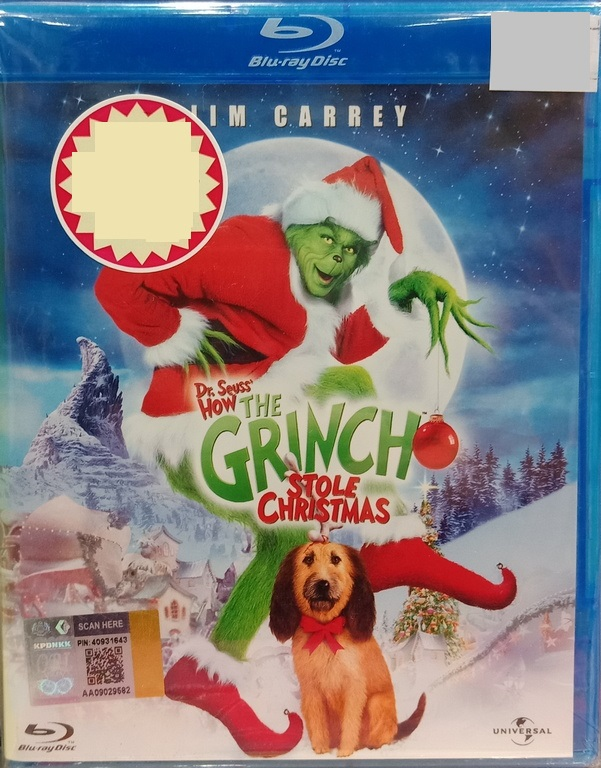 How The Grinch Stole Christmas Blu Ray.English Movie How The Grinch Stole Christmas Blu Ray
