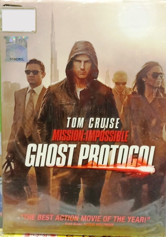 English Movie MI4 Mission Impossible 4 Tom Cruise Ghost Protocol DVD