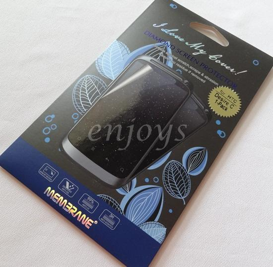 Enjoy MEMBRANE Diamond Clear LCD Screen Protector HTC Desire C / A320e