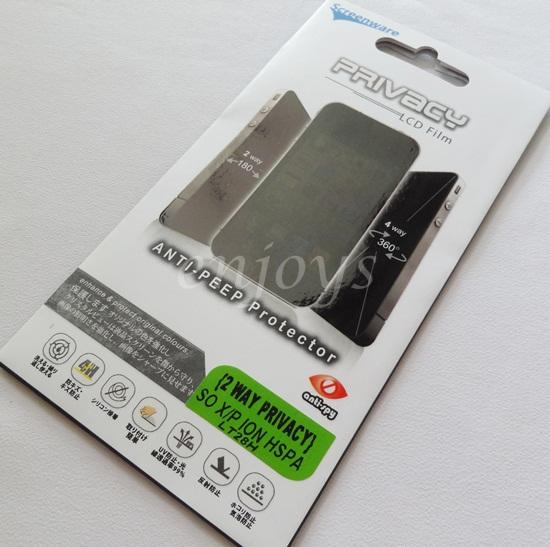 Enjoys: 2 Way Privacy LCD Screen Protector Sony Xperia ion LTE / LT28i