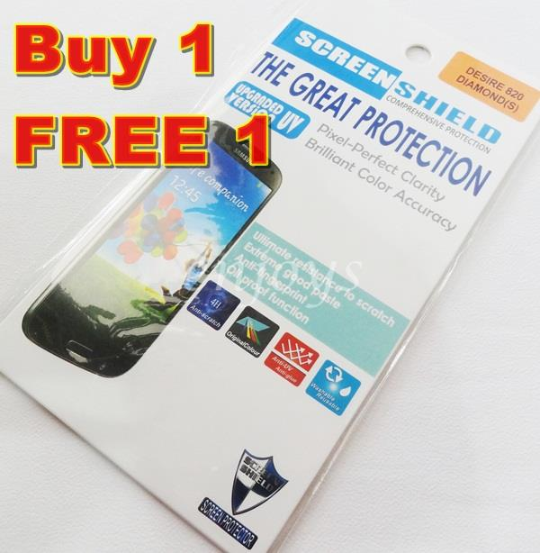 Enjoys: 2x DIAMOND Clear 4H LCD Screen Protector HTC Desire 820