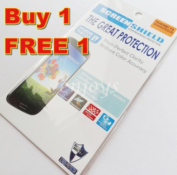 Enjoys: 2x DIAMOND Clear 4H LCD Screen Protector Huawei Ascend Y3