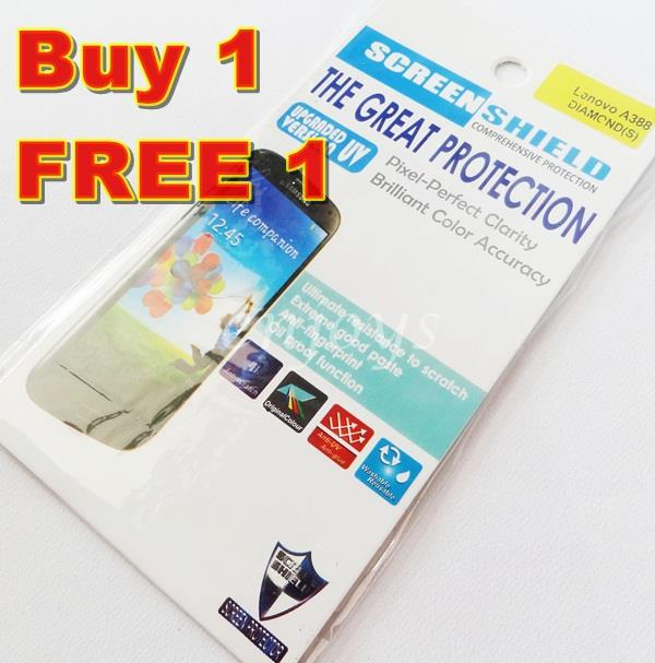 Enjoys: 2x DIAMOND Clear 4H LCD Screen Protector for Lenovo A388T