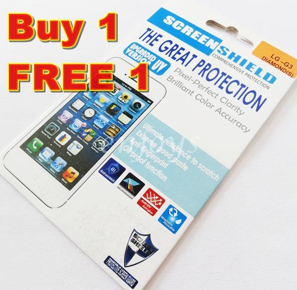 Enjoys: 2x DIAMOND Clear 4H LCD Screen Protector LG G3 /D851 D855 D858