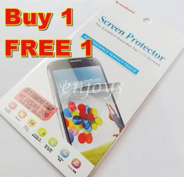 Enjoys: 2x DIAMOND Clear LCD Screen Protector for HTC Desire 300