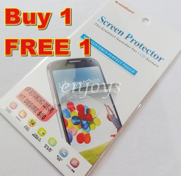 Enjoys: 2x DIAMOND Clear LCD Screen Protector for HTC Desire 500