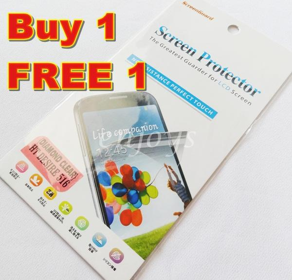 Enjoys: 2x DIAMOND Clear LCD Screen Protector for HTC Desire 516