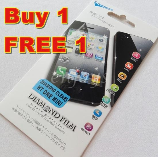 Enjoys: 2x DIAMOND Clear LCD Screen Protector HTC One Mini M4