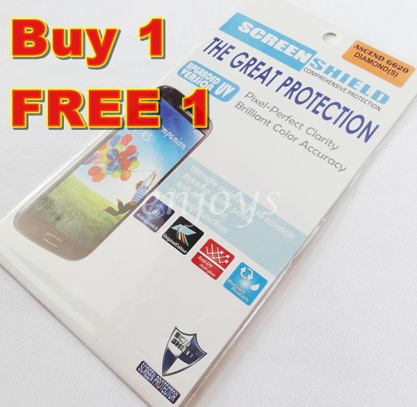 Enjoys: 2x DIAMOND Clear LCD Screen Protector Huawei Ascend G620s G620