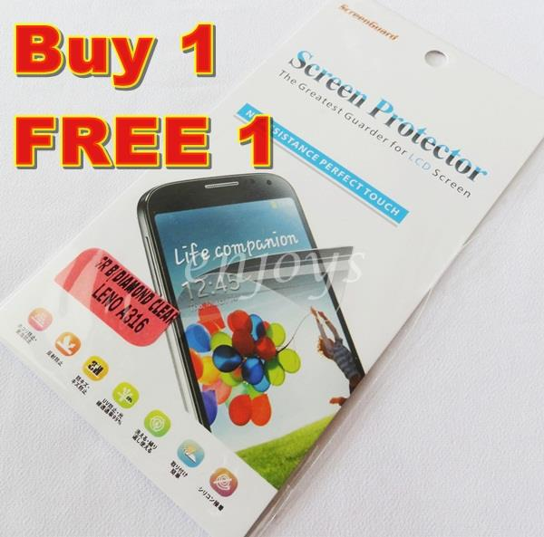 Enjoys: 2x DIAMOND Clear LCD Screen Protector for Lenovo A316