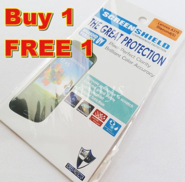 Enjoys: 2x DIAMOND Clear LCD Screen Protector for Lenovo A319