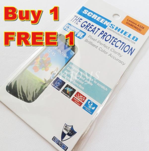 Enjoys: 2x DIAMOND Clear LCD Screen Protector for Lenovo A328