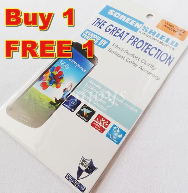 Enjoys: 2x DIAMOND Clear LCD Screen Protector Lenovo A6000 /A6000 Plus
