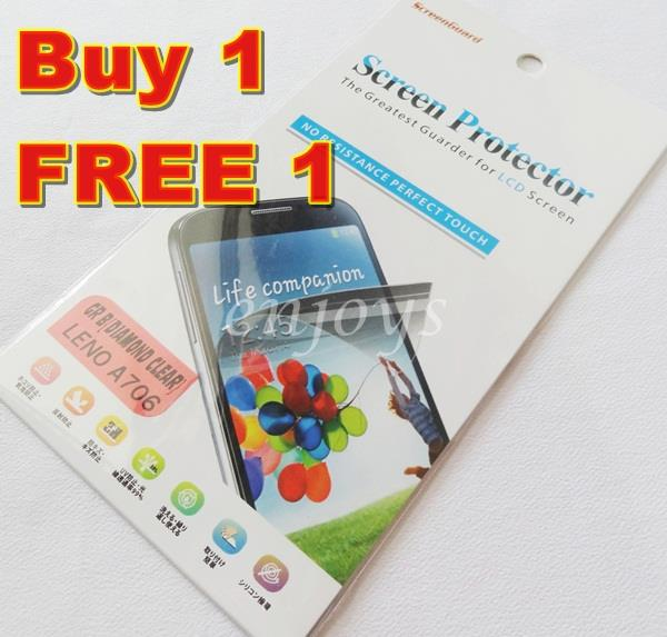 Enjoys: 2x DIAMOND Clear LCD Screen Protector Lenovo IdeaPhone A706