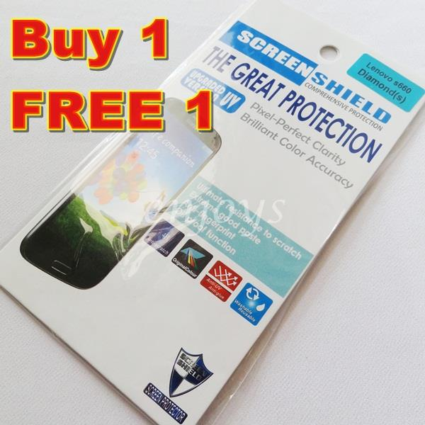 Enjoys: 2x DIAMOND Clear LCD Screen Protector for Lenovo S660