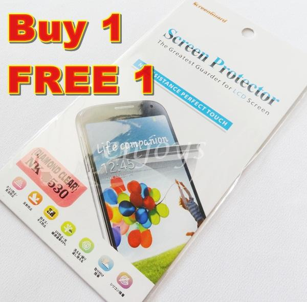 Enjoys: 2x DIAMOND Clear LCD Screen Protector for Nokia Lumia 530