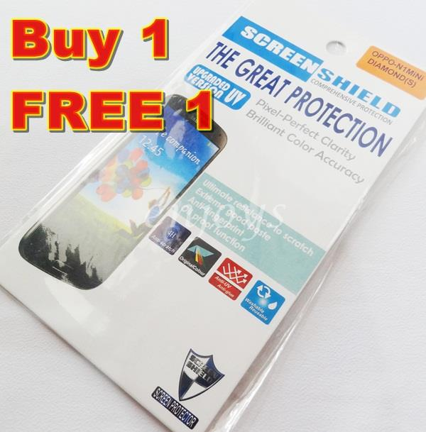 Enjoys: 2x DIAMOND Clear LCD Screen Protector Oppo N1 Mini