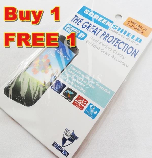 Enjoys: 2x DIAMOND Clear LCD Screen Protector Samsung Galaxy J1 /J100H