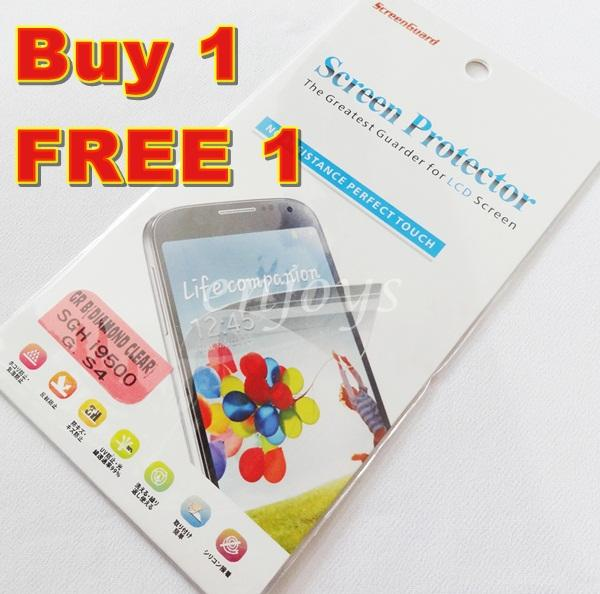 Enjoys: 2x DIAMOND Clear LCD Screen Protector Samsung I9500 Galaxy S4