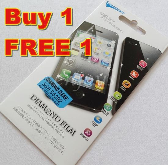 Enjoys: 2x DIAMOND Clear LCD Screen Protector Samsung Rex 90 / S5292