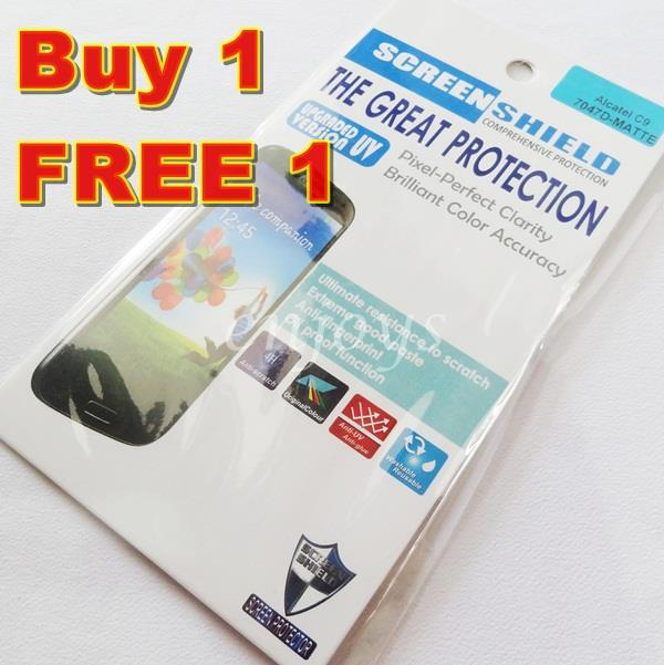 Enjoys: 2x MATTE AG LCD Screen Protector for Alcatel One Touch Pop C9