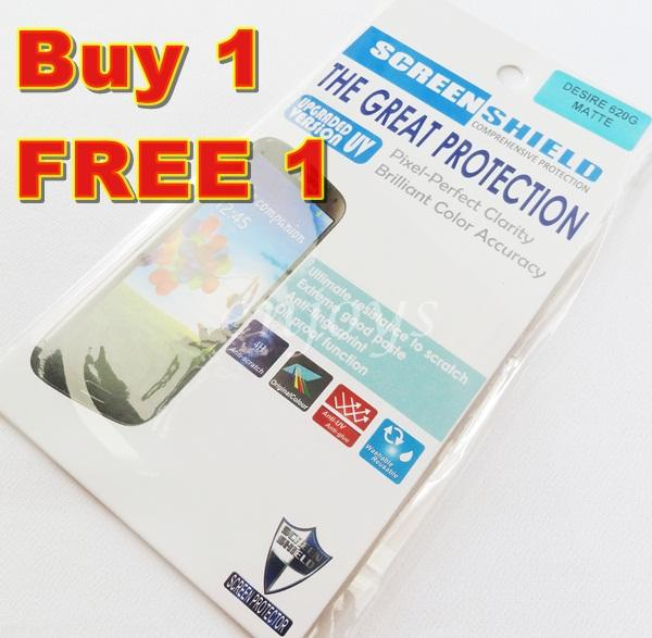 Enjoys: 2x MATTE AG LCD Screen Protector for HTC Desire 620G