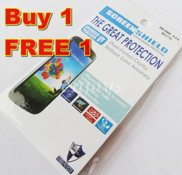 Enjoys: 2x MATTE AG LCD Screen Protector for HTC Desire 816