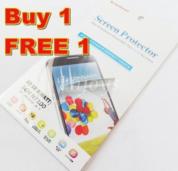 Enjoys: 2x MATTE LCD Screen Protector Samsung Galaxy Note 2 II N7100