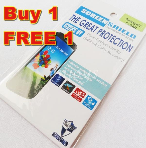 Enjoys 2x Ultra Clear 4H LCD Screen Protector Samsung Galaxy E7 /E700H