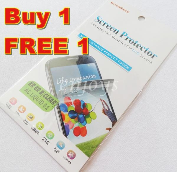 Enjoys: 2x Ultra Clear LCD Screen Protector Acer Liquid S1 Dual Sim