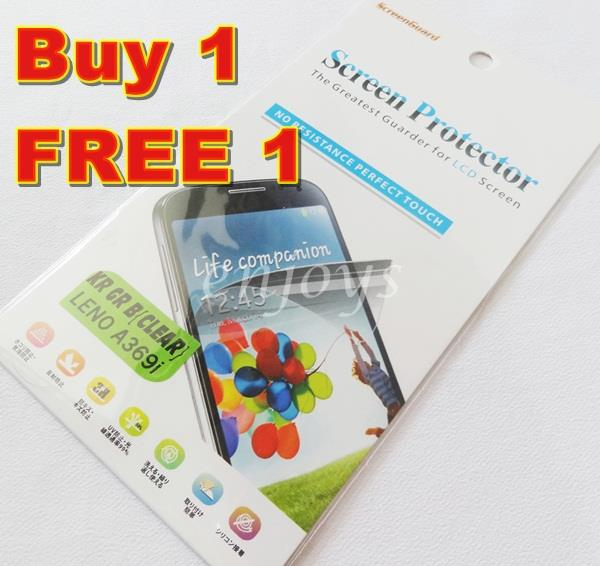 Enjoys 2x Ultra Clear LCD Screen Protector Lenovo A369 A369i Dual Sim