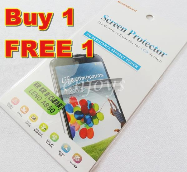 Enjoys: 2x Ultra Clear LCD Screen Protector Lenovo IdeaPhone A850