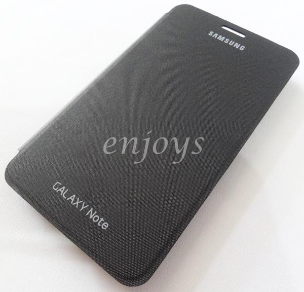 Enjoys: BLACK Flip Cover Pouch Case Samsung Galaxy Note 1 N7000 i9220