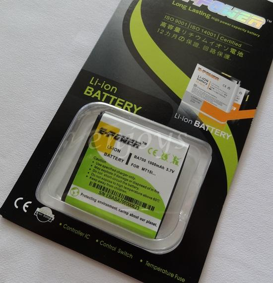 Enjoys EPOWER Long Lasting Battery BA700 Sony Ericsson Xperia neo ray
