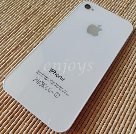 Enjoys: NEW HOUSING Battery Cover Apple iPhone 4 ~WHITE @A1332