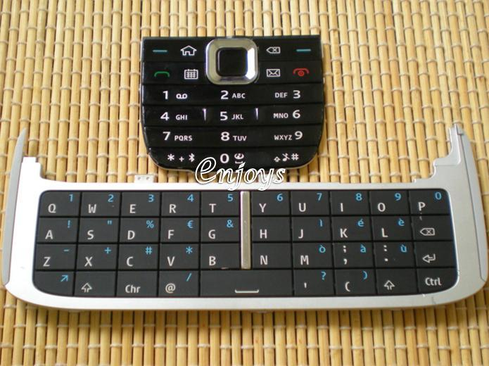 Enjoys: Keyboard Keypad Part Nokia E75 ~ BLACK @Press like ORI
