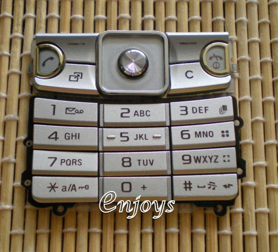 Enjoys Keyboard Keypad Part Sony Ericsson C510 ~SILVER @Press like ORI