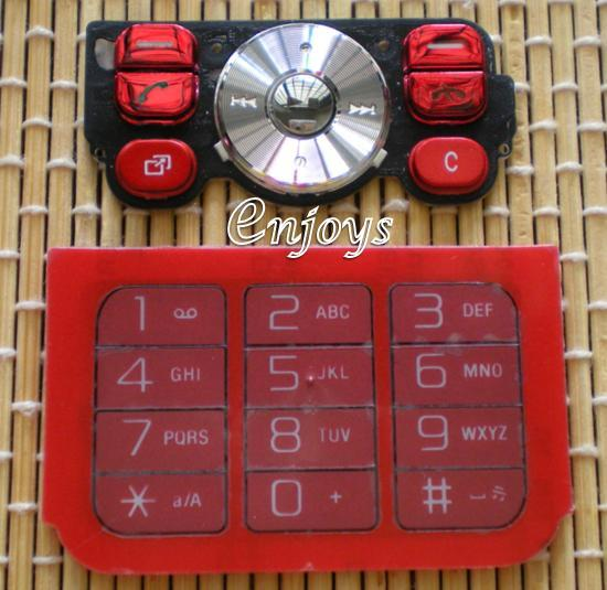 Enjoys: Keyboard Keypad Part Sony Ericsson W910i ~ RED @Press like ORI
