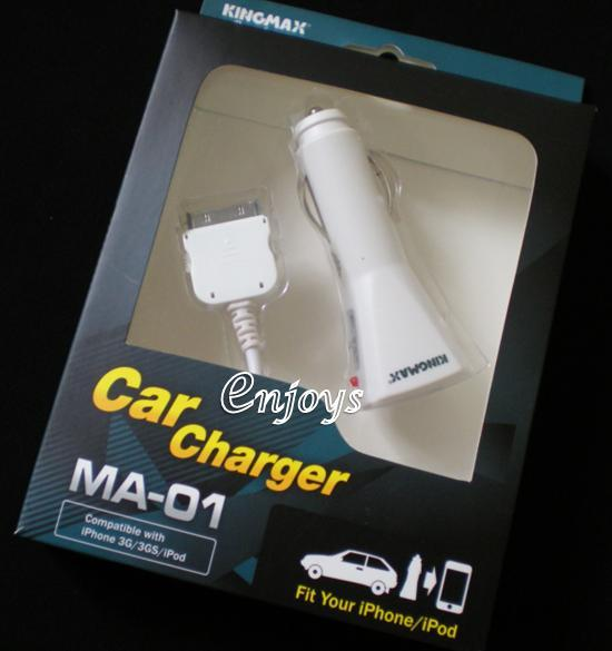 Enjoys: KINGMAX USB Car Charger MA-01 Apple iPhone 3Gs 4G Touch iPod