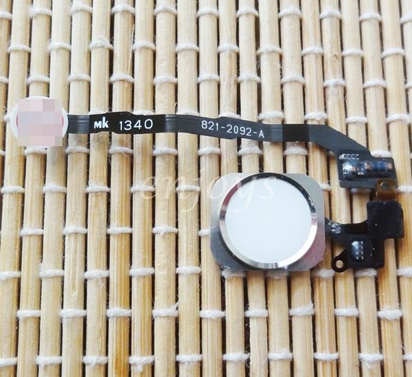 Enjoys: ORIGINAL Home Button Flex Cable Ribbon Apple iPhone 5S ~WHITE