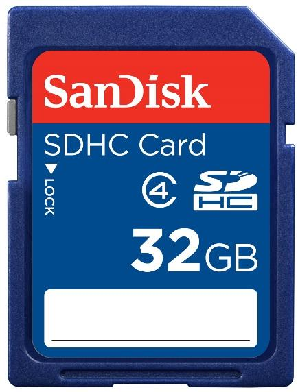 Enjoys: Real SanDisk Standard 32GB SD SDHC Memory Card ~Class 4 @Pkg