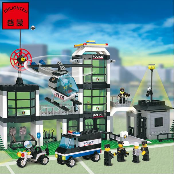 ENLIGHTEN 110 Police Headquarters Blocks Puzzle Compatible With LEGO