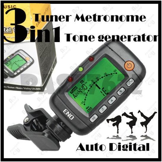 NEW ENO 3 in 1 Auto Digital Guitar Violin Tuner, Metronome
