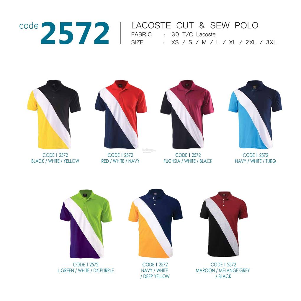 Enzo Cut & Sew Polo T-shirt 2572